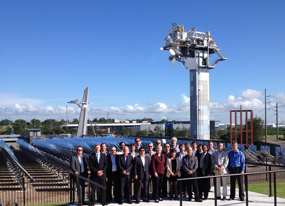 The SolarPACES executive committee and CSIRO's Chief Executive, Dr Megan Clark.